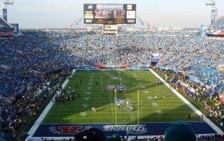 Field shot of Super Bowl XXXIX between the New England Patriots and Philadelphia Eagles.