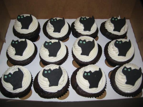 Cat cupcakes for a cat party!