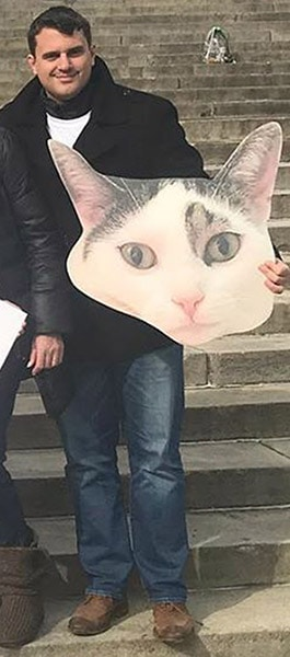 BigHead cat cutouts are great for a cat party.