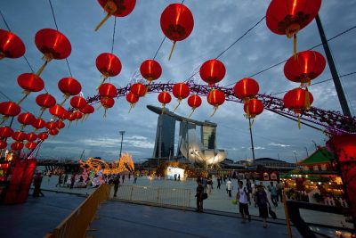 Chinese lanterns are perfect decorations for Chinese New Year.
