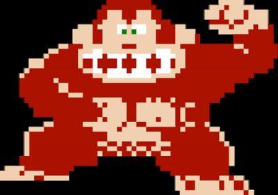 Classic 8-bit Donkey Kong.