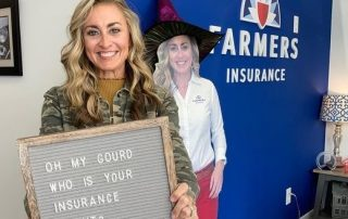 danielle-and-standee-with-sign