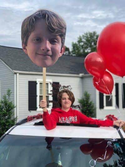 A drive by graduation celebration.