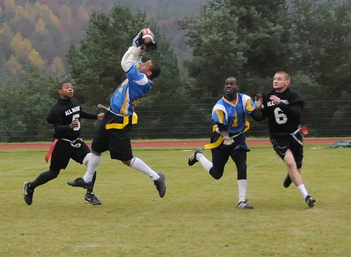 Flag football is a great party activity.