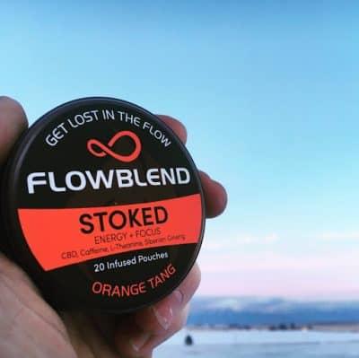 A can of FlowBlend's CBD chew.