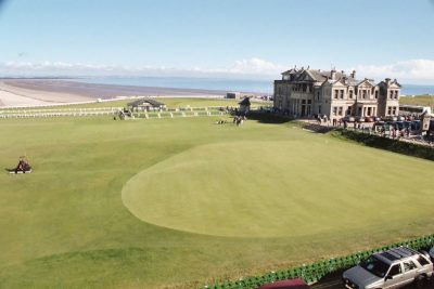 St. Andrews 18th hole green.