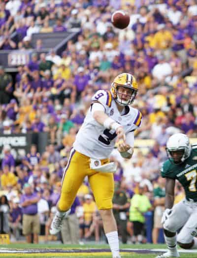 Watch Joe Burrow play for LSU during your football party.