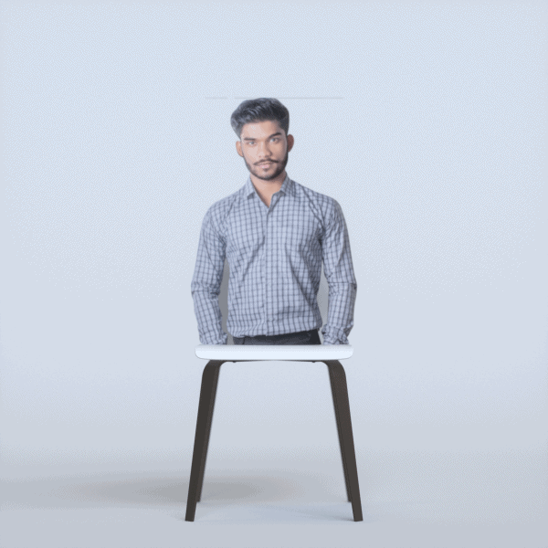 Cutout for use as chair filler.