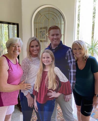 Family cardboard cutout delivered to mom for Mother's Day.