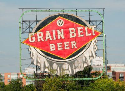 Grain Belt beer sign.