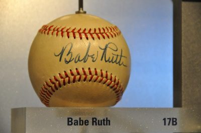 Babe Ruth autographed baseball.