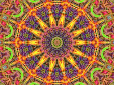 Colorful sunflower mandala.