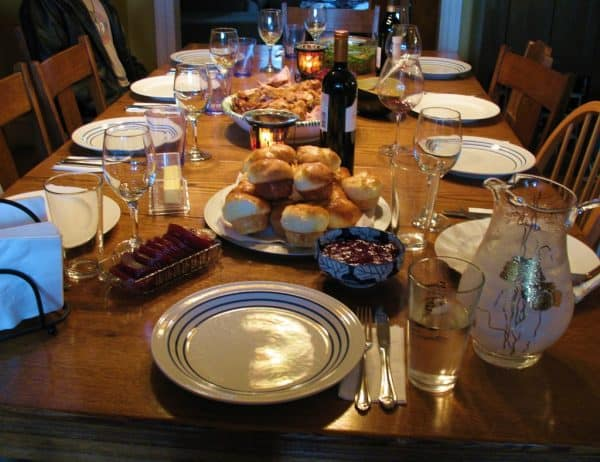 Thanksgiving Day table.