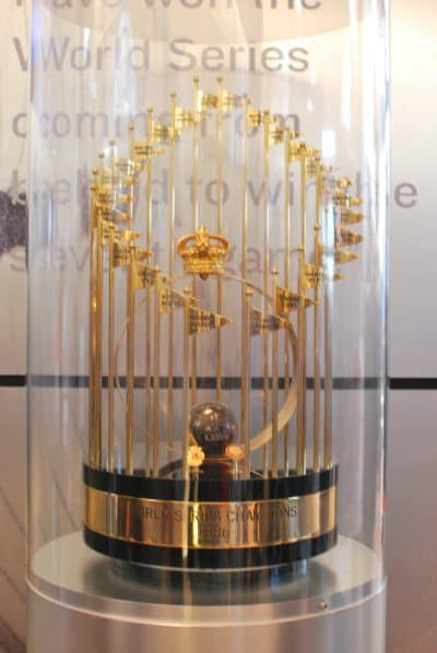World series trophy.
