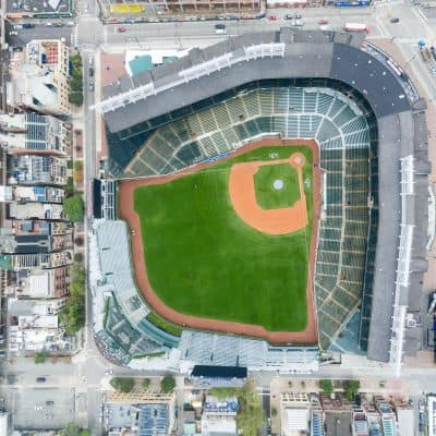 Wrigley Field baseball stadium.