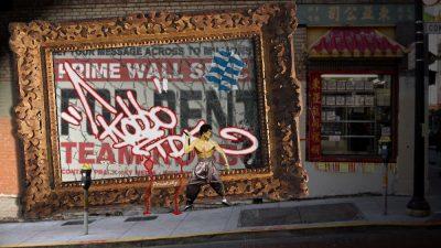 Graffiti in an XBOX game screenshot.